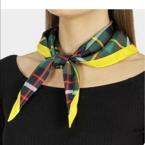 Burberry Accessories - Burberry silk bandana scarf vintage check triangle